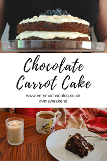 Chocolate Carrot Cake recipe with Very Much So blog. vmsweekend