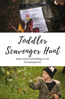 Quick and easy colour scavenger hunt for children with Very Much So blog.