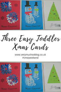 Three, simple toddler christmas card crafts with Very Much So blog