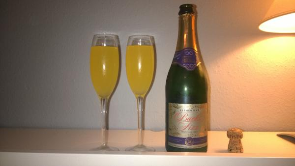 Bucks Fizz in bed, the perfect way to start #Chris...