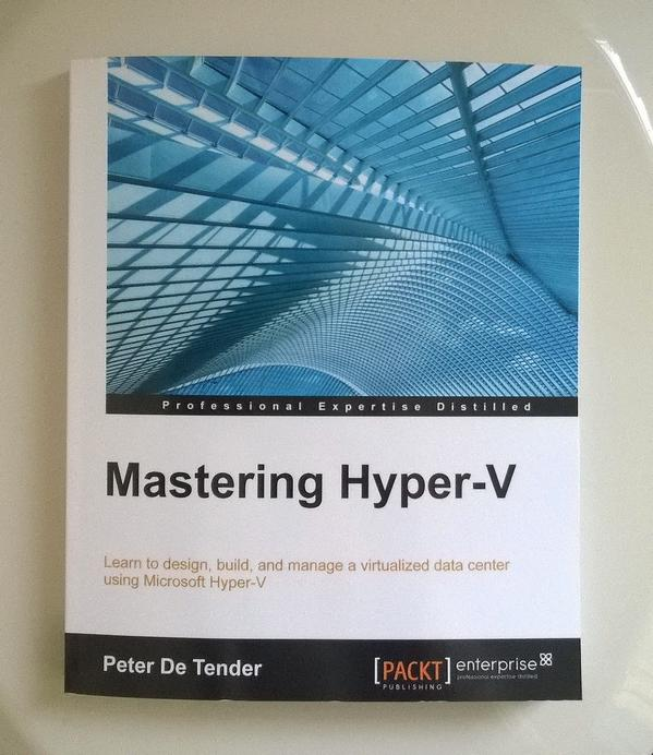 Received my free copy of Mastering Hyper-V by @pdt...